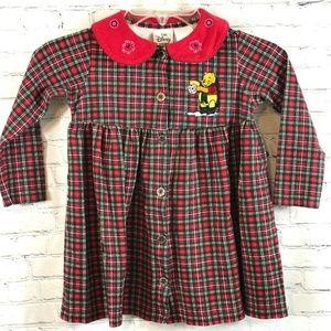 Disney Store Girls Dress Poohs Snowflake Size 4T L